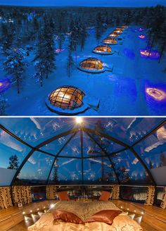 Spend the night in a glass igloo in Finland