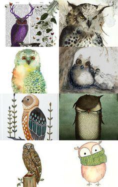 Whooooo wouldn't like an Owl by Joana on Etsy--Pinned with TreasuryPin.com