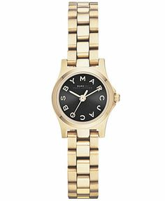Marc by Marc Jacobs Watch, Women's Henry Dinky Gold-Tone Stainless Steel Bracelet