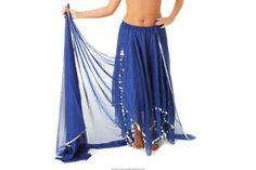 chiffon skirt w silver trim