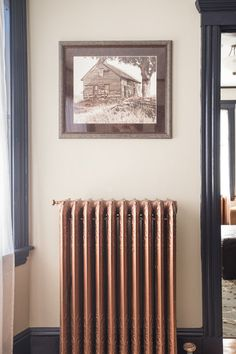 Copper painted radiator