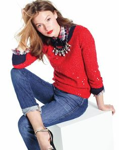 J.Crew sweater & shirt - great outfit