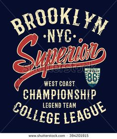 College New York typography, t-shirt graphics.