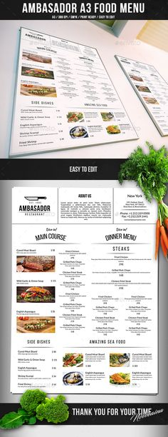 Free Online Menu Templates As Well As Full Size Of Restaurant Menu