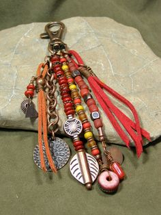 Purse Charm - Zipper Pull - Key Chain Charm - Charm Tassel - Southwest Charms - Belt Loop Clip - Native Tribal Charms