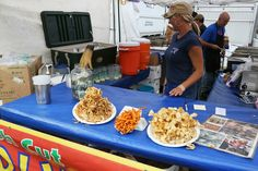 Twisted taters, sweet potato fries, curly fries and fresh squeezed lemonade (regular or strawberry), food stand at The Telluride Blues & Bre. Telluride Blues And Brews, Fresh Squeezed Lemonade, Curly Fries, Food Stands, Sweet Potato, Brewing, Strawberry, Drinks, America