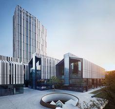 gmp-Block in Shanghai fertiggestellt / Neun Zeilenhäuser und ein Turm - Architektur und Architekten - News / Meldungen / Nachrichten - BauNetz.de