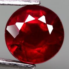 3.19CT.DAZZLING! ROUND FACET TOP BLOOD RED NATURAL RUBY MADAGASCAR #GEMNATURAL