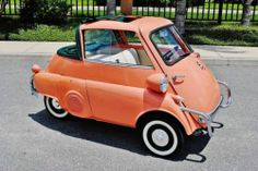 Orange BMW Isetta 300 convertible
