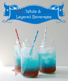 Fourth of July Layered Beverages - Cupcakes & Crinoline