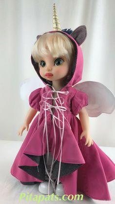 Custom Animator Doll - Unicorn fairy (Remastered from Disney Cinderella Animator Doll). Everything in picture included (only one dollblue unicorn fairy is not included ). Disney Princess Dolls, Disney Dolls, Disney Animators Collection Dolls, Disney Animator Doll, Doll Repaint, Fairy Dolls, Custom Dolls, Harajuku, Cinderella