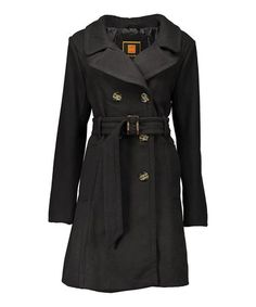 Look what I found on #zulily! Black Trench Coat #zulilyfinds