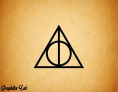 Sign of the Deathly Hollows Decal Harry Potter by GraphiksLab, $2.00