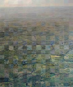 "Mark Stewart ~ ""Overview"" (2011)  oil on canvas 90 x 85 cm via Brenda May Gallery"