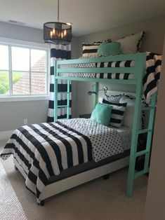 50 amazing kids bedroom furniture buds beds ideas for the ho Bunk Beds With Stairs, Kids Bunk Beds, Cool Kids Bedrooms, Girls Bedroom, Kid Bedrooms, Childs Bedroom, Bedroom Black, Bed Rooms, Girl Rooms