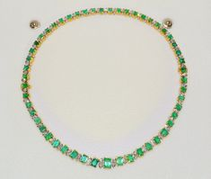 Certified natural 21CTS VS F G marquise diamond emerald 18k solid gold convertible riviera tennis necklace bracelet