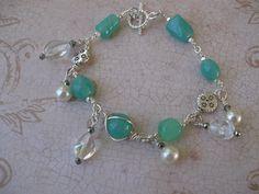 Aqua Sparkle Bracelet by MEsshop on Etsy, $10.00
