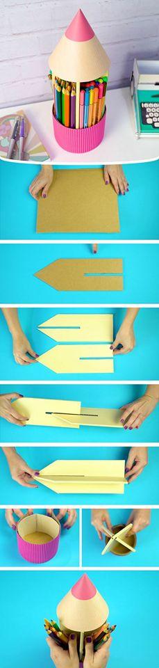DIY Carton Pencil Holder by Dany Martines