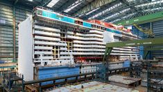Spectrum of the Seas Spectrum of the Seas under construction at the Meyer Werft ship yard Royal Caribbean Cruise, Under Construction, Stairs, Yard, Ship, Spectrum, Light Building, Cruises, Everything