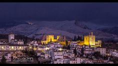 #Granada #SierraNevada Granada, Sierra Nevada, Andalucia, New York Skyline, Sunset, Travel, Romantic Travel, Earth, Cities
