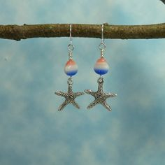 Handmade Earrings  Holiday at the Beach   by Hyacinthsbyme on Etsy, $7.00