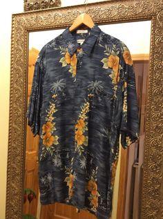 PIERRE CARDIN Hawaiian Shirt, Size: L, Made in Korea #PierreCardin #Hawaiian #HawaiianShirt #CardinShirt #Mens #SizeL #PierreCardin #Hawaiian