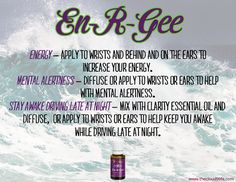 Who uses En-R-Gee essential oil? This oil is great to help increase energy and help with mental alertness. Share this info with friends to help spread the word about how awesome essential oils are!  http://thecloud9life.com/?p=7503