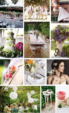Garden Wedding Mood Board (Source: theuptownbride.blogspot.com)