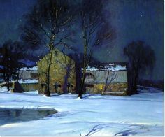 Moonlight Over Holicong Studio George William Sotter (1879-1953)