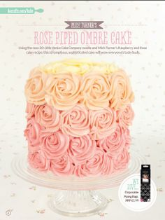 Gorgeous Rose piped cake from the Little Venice Cake Company! Shop the range now at C+C: http://www.createandcraft.tv/search/little%20venice%20cake%20company?fh_location=//createandcraft/en_GB/$s=little\u0020venice\u0020cake\u0020company/brand_cc@gt;{little20venice20cake20company}