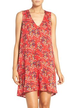 Charles Henry Floral Print Trapeze Dress available at #Nordstrom