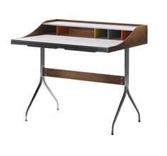 George Nelson desk. Love the light and airy feel of it.