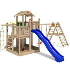 ISIDOR Fluppy Flu Spielturm Kletterturm großer Sandkasten Rutsche 2 Schaukeln (erweiterter Schaukelanbau inkl 2 Schaukeln) von ISIDOR Holzbau, http://www.amazon.de/dp/B00I97IKLW/ref=cm_sw_r_pi_dp_sL0Etb1B81SDJ