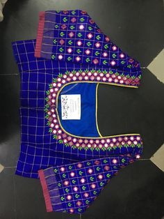 Discover thousands of images about Sudhasri hemaswardrobe Cutwork Blouse Designs, Kids Blouse Designs, Wedding Saree Blouse Designs, Simple Blouse Designs, Stylish Blouse Design, Mirror Work Blouse Design, Maggam Works, Embroidery Blouses, Hand Embroidery