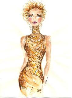 Fashion Illustration by Anum Tariq at Coroflot.com