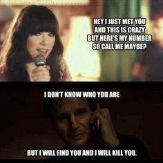 Carly Rae Jepsen vs Liam Neeson hahaha!