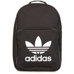 Trefoil Backpack by Adidas Originals ($23) ❤ liked on Polyvore featuring bags, backpacks, backpack, black, adidas backpack, adidas, knapsack bag, polyester backpack and rucksack bags
