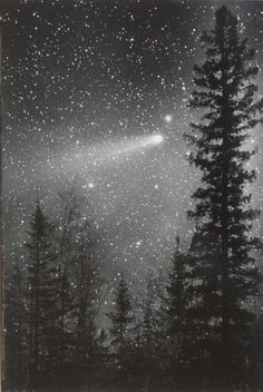 i remember this! The Eta Aquarid shower originates with material left behind by Halley's Comet when the sun boils dust and ice from its nucleus around the time of perihelion. This photo from May 1986 during its last pass by Earth. Credit: Bob King