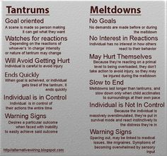 (image found on Facebook) If you (and/or your child's school) think you child has Meltdowns - try reading this https://www.understood.org/en/learning-attention-issues/child-learning-disabilities/sensory-processing-issues/the-difference-between-tantrums-and-sensory-meltdowns