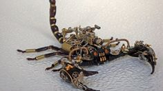 Dead Scorpions Turned Into Steampunk Sculptures are Scary [Photo Gallery] http://www.autoevolution.com/news/dead-scorpions-turned-into-steampunk-sculptures-are-scary-photo-gallery-82206.html