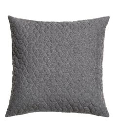 Cushion cover in woven fabric with a lightly padded, quilted front section. Concealed zip. Size 20 x 20 in.