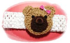 Crochet Headband Bear by RikapandaCrafts on Etsy