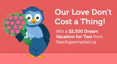 Enter to WIN a dream vacation for two, valued at $2,500 Dream Vacation Spots, Dream Vacations, Compare Insurance, Wonderful Things, Yoga Pants, Coupons, Giveaway, Trips, Projects To Try