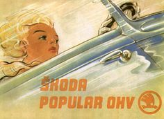 Škoda Tradition Retro Cars, Vintage Cars, Retro Illustration, Illustrations, Car Posters, Car Advertising, Old Signs, Vintage Travel Posters, Old Cars