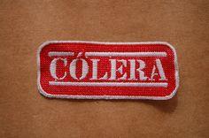 Patch 100% bordado. Acabamento manual.Cólera . www.facebook.com/PatchesDonaRamona