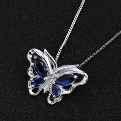 Crystal Zinc Alloy Necklace, with Crystal, with 2lnch extender chain, Butterfly, platinum color plated, box chain & faceted & with rhinestone, nickel, lead & cadmium free, 29x20mm, Length:Approx 18 Inch, 3Strands/Lot,china wholesale jewelry beads