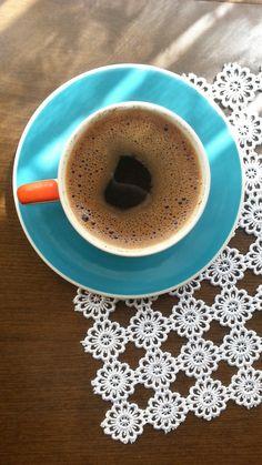 Güne klasik başlangıç. Classic  starting the day. #Turkishcoffe #newday #blue #orange