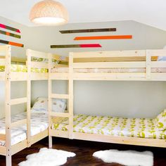 Bunkbed Designs diy wall to wall built in bunk beds and a full room remodel