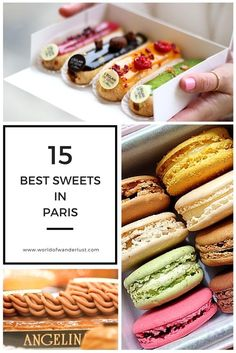The 15 Best Sweets in Paris | World of Wanderlust.  Featured by A Hedgehog in the Kitchen. www.ahedgehoginthekitchen.com.