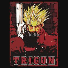 Trigun Stampede  Available as T-Shirts & Hoodies, Men's Apparels, Stickers, iPhone Cases, Samsung Galaxy Cases, Posters, Home Decors, Tote Bags, Pouches, Prints, Cards, Leggings, pencil Skirts, Scarves, iPad Cases, Laptop Skins, Drawstring Bags, Laptop Sleeves, Stationeries #trigun #anime #manga #shirts #illustration
